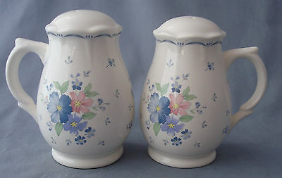 "salt & pepper shakers 4¼"" pitcher shaped tea rose ceramic sstove top Japan"