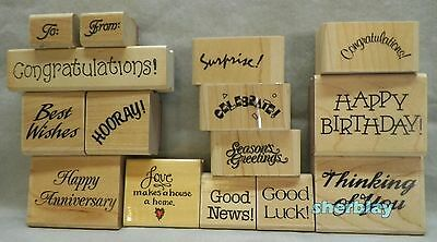 Huge Large Mixed RUBBER STAMP LOT