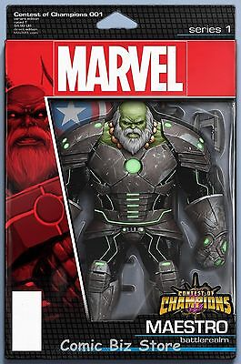 Contest Of Champions #1 (2015) Scarce Christopher Action Figure Variant Cover