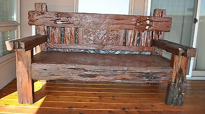 Antique Vintage One Of A Kind  Hand Crafted Solid Koa Bench