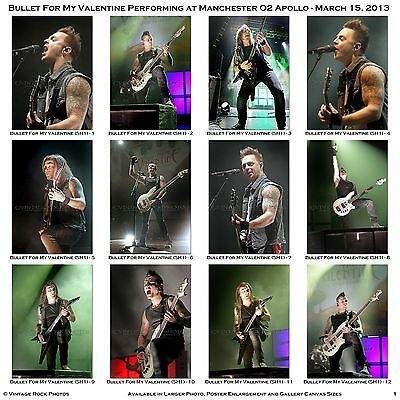 Bullet For My Valentine Photos Set of 39 Pro Prints 4x6 inch 2013 UK Concert s2
