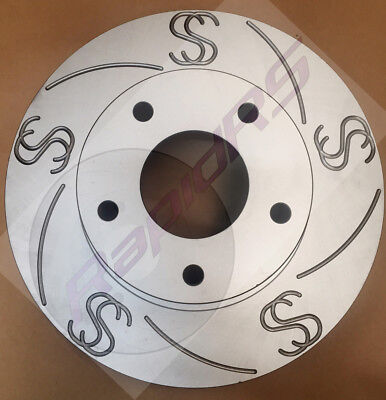 Slotted Brake Disc Rotor Holden Commodore VT VX VU VY VZ SS SV6 Front (RS40)