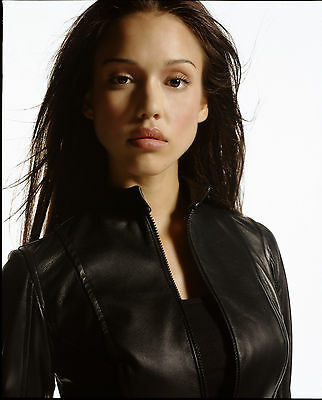 Jessica Alba 8x10 sext leather jacket