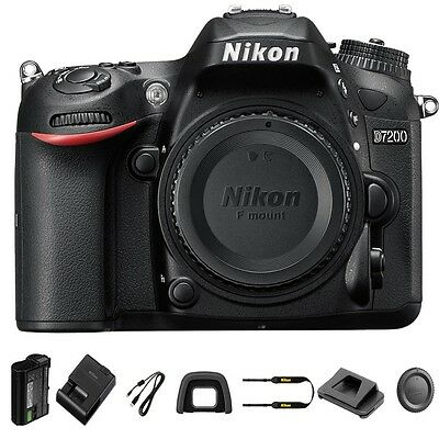 Nikon D7200 Body Only DSLR Camera 24.2 MP DX Format CMOS Sensor NEW