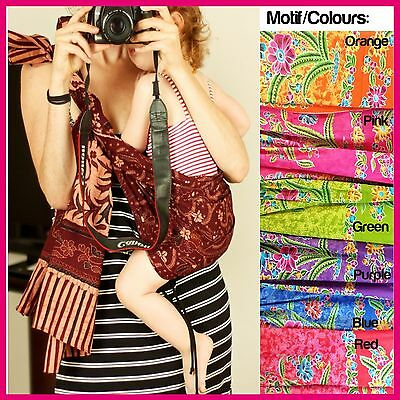 Batik Selendang Baby Carrier Pouch Wrap Wearing Cover Newborn Toddler