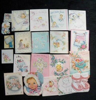 Vintage Cards New Baby Girl/Baby ...1950's Lot of 21..Adorable!!