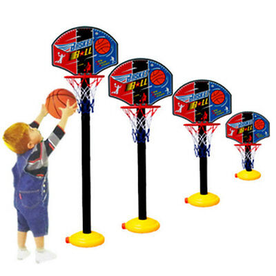 Kids Sports Portable Basketball Toy Set with Stand Ball & Pump Toddler Baby CC