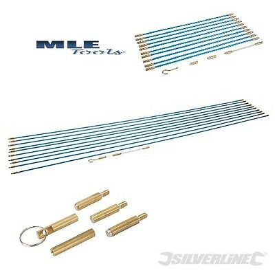 Silverline Cable Access Tool Kit wiring electrician rods 330mm 1m accessories