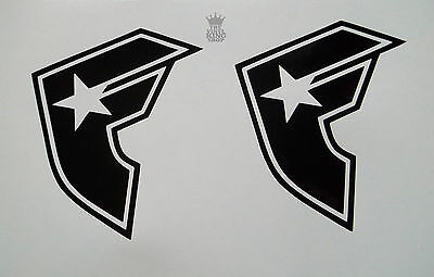 2 x Famous Stars and Straps Vinyl Decal Sticker Ski Snowboard Car Skate Window