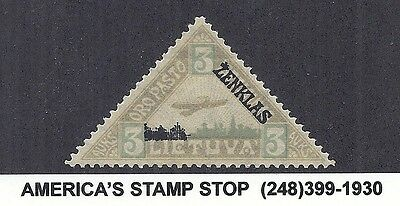 1922 Lithuania Very Rare Cinderella Stamp (Based on SC C16 Airmail) - Zenklas*