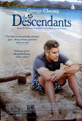 Cinema Poster: DESCENDANTS, THE 2012 (One Sheet) George Clooney Shailene Woodley