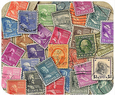 Mouse Pad - Thick Mousepad - Vintage Postage Stamps