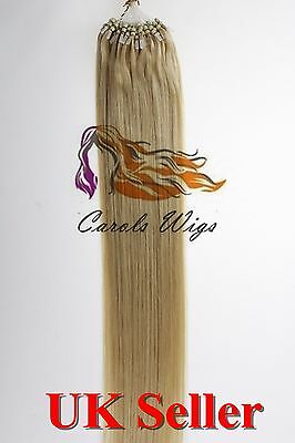 """20"""" 1g/s 6A* Indian Premier Remy Loop Micro Ring  Human Hair Extension UK Seller"""