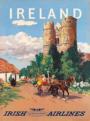 Ireland Irish Great Britain United Kingdom Travel Advertisement Art Poster