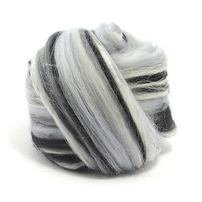 100g DYED MERINO WOOL TOP TEMPEST BLEND DREADS 64's SPINNING FELTING ROVING
