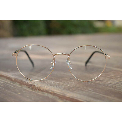1920s Vintage eyeglasses oliver retro small round 9546 Gold frames kpop peoples