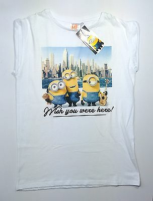 Minions DESPICABLE ME ladies Womens T shirt Top Tee Primark UK 6-12 new