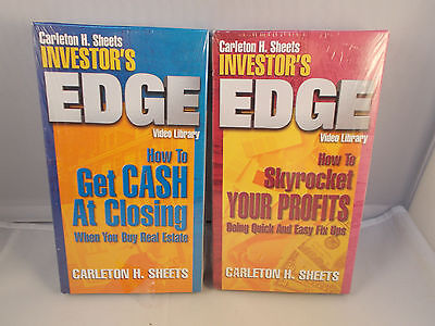 Carleton H. Sheets Investor's Edge VHS Video Library Lot of 2