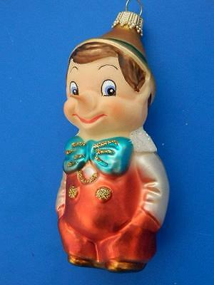 KREBS PINOCCHIO GERMAN BLOWN GLASS CHRISTMAS TREE ORNAMENT disney