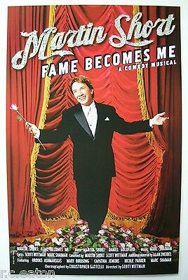 """MARTIN SHORT - FAME BECOMES ME - BROADWAY WINDOW CARD - 14"""" x 22"""""""