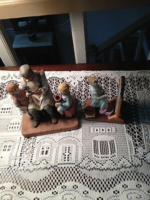 """Norman Rockwell figurines """"ALMOST GROWN UP AND """"TOYMAKER"""""""