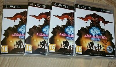 4 x Final Fantasy 14 XIV A Realm Reborn for PS3 for 4 quantities NEW UK PAL