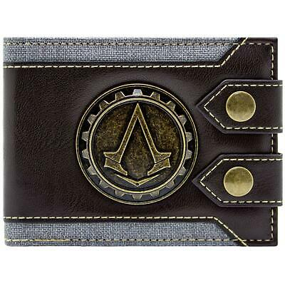New Official Assassins Creed Syndicate Jacob Logo Brown Bi-Fold Wallet
