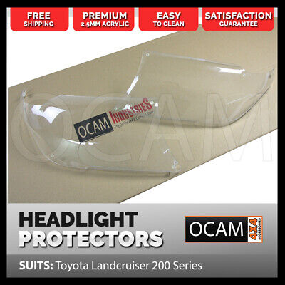 OCAM Headlight Protectors for Toyota Landcruiser 200 Series 2007-07/2015 Covers
