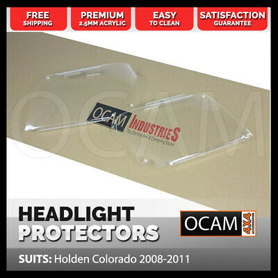 OCAM Headlight Headlamp Protectors for Holden Colorado 2008-2011 Lamp Covers