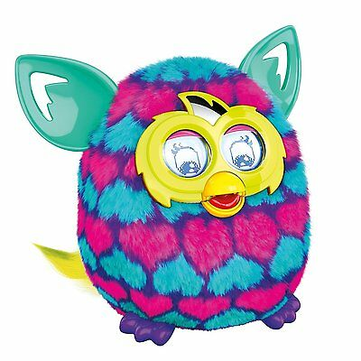 Furby Boom Pink and Blue Hearts Electronic Pet Talking Toy Ages 6+ Hasbro Girls