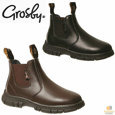 GROSBY Ranch Boots Pull On Shoes Kids Children's Infants Toddlers Childs Chelsea