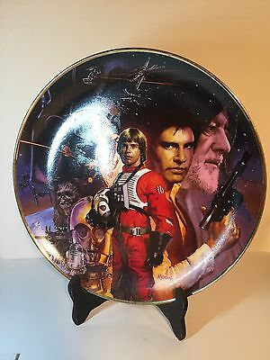 Hamilton Collection 1992 Limited Collectible Star Wars Plate Very NICE!!!