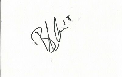 A 5 x 3 inch white card. Personally signed by Byron Harrison. Chesterfield.