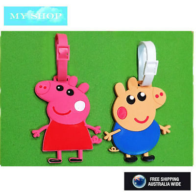 New Peppa Pig & George Cute Name Tag, Id Lable For Luggage, Suitcase, School Bag