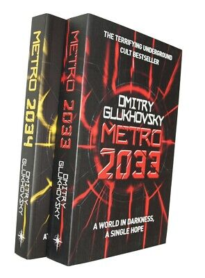 Dmitry Glukhovsky Metro 2033 + Metro 2034 2 Books Science Fiction Dystopian New