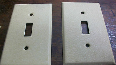 Lot 2 Ivory Metal Light Wall Switch Cover Plates - all new