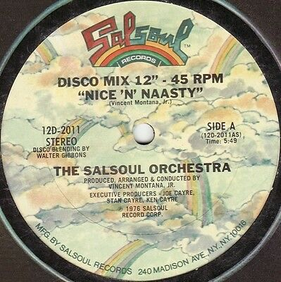 """THE SALSOUL ORCHESTRA-Nice 'n' Naasty (1976) (12"""") ORG. US PRESSING IN PERFECT C"""
