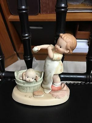 """Memories of Yesterday Enesco """"Now Be A Good Dog, Fido"""" 1991 524581 Washing Dog"""