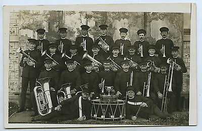 C.1910 RP NPU EMPIRE POSTCARD MODERN BRASS BAND FREELING SOUTH AUSTRALIA z25