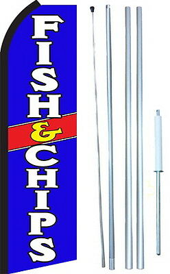 Fish and Chips Swooper Flag Kit (2.5ft x 11.5ft flag)