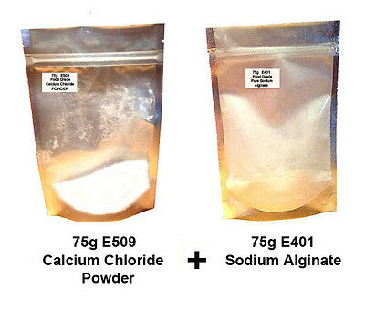 Calcium Chloride Powder E509  + Sodium Alginate E401    - Molecular cuisine