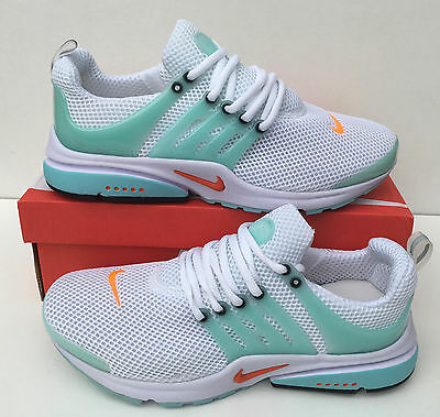 nike air presto essential women's white/green trainers shoes - sizes 4 to 6