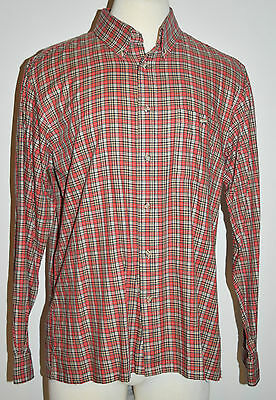 Vintage Patch Two For Hathaway 80's Men's Long Sleeve Plaid Shirt - Size X-Large