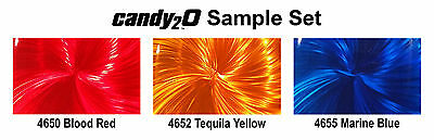 Airbrush Paint Auto Air Colors Candy2 O paint Set A -Intro Sample Set 4 x 120ml