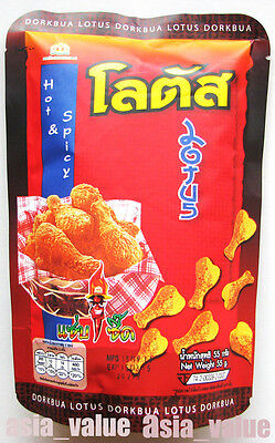 Amazing Snack Yummy DORKBUA LOTUS HOT & SPICY Fried Chicken Drumsticks 50 g.