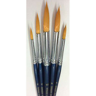 Artmaster Set of 5 Paint Brushes for Acrylic, Watercolour, Gouache - ROUNDS