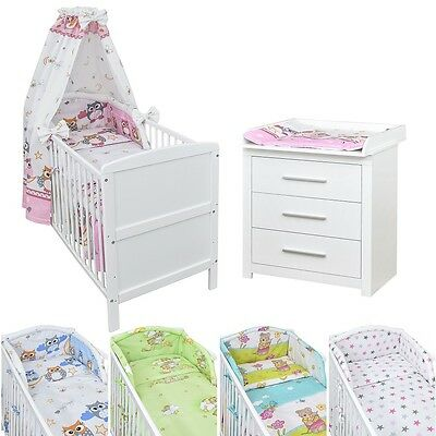 baby komplettzimmer prinzessin kinder bett 120x60. Black Bedroom Furniture Sets. Home Design Ideas