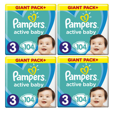 Pampers Active Baby Dry Gr.3  6-10 kg (104-624 Windeln/Packung) Monatsbox