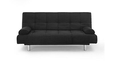 Sofa Bed - Manhattan (Black) (Sofabeds Online) *SHIPS FROM USA AND CANADA*