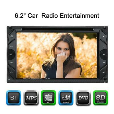 "6.2"" Universal 2 Din HD Car Stereo DVD Player Bluetooth Touch Screen USB 67RJ"